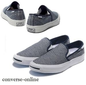 5f704a31a06434 Men s CONVERSE All Star JACK PURCELL BLUE SLIP ON Low Trainers Shoes ...