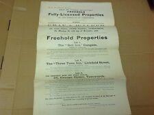 Staffordshire Document, Tamworth Sale Particulars ,Bell Inn ,three Tuns Inn Etc