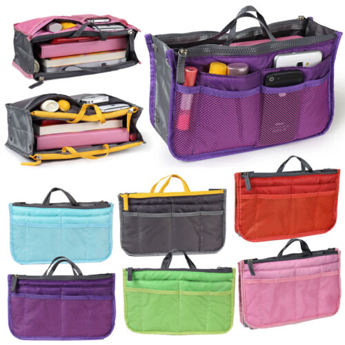 Purse Travel Large 2 Bag 1 Tidy Pocket Tote Organizer Pouch Women Insert Handbag cjLq34A5R