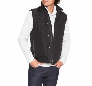 NEW-80-BANANA-REPUBLIC-MENS-QUILTED-LAYERING-VEST-BLACK-SIZE-MEDIUM-LARGE-M-L