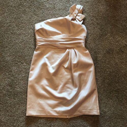 Vera Wang Bridesmaid Dress #84333 Size 10 UNALTERED Champagne
