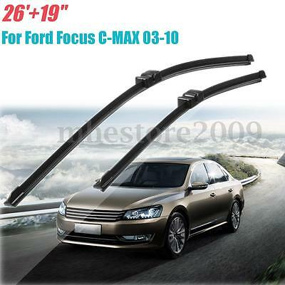 "Pair 26"" & 19"" Front Windscreen Wiper Blades RH Drive For Ford Focus C-MAX 03-10"