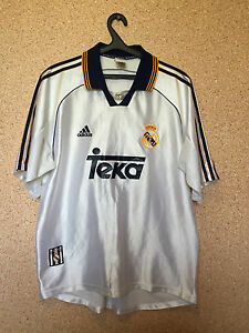 super popular e1a22 735d2 Details about REAL MADRID SPAIN 1998/2000 HOME FOOTBALL SHIRT CAMISETA  TRIKOT JERSEY ADIDAS