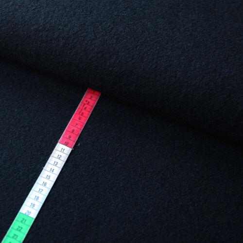Wollmischgewebe Viskose-Wolle Schwarz Trachten Winterstoffe Warmer Stoffe