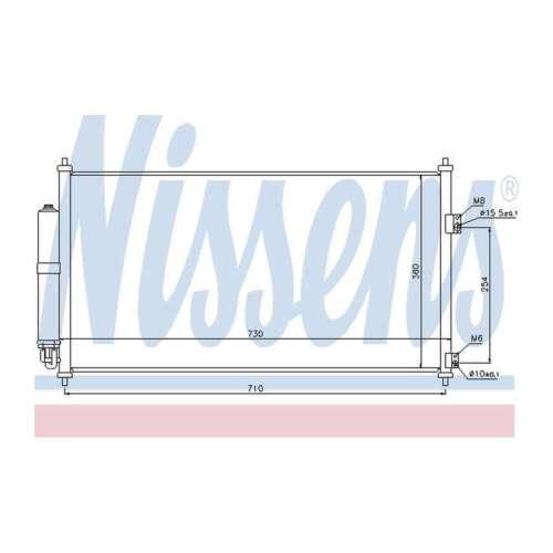 Fits Nissan X-Trail T30 2.2 dCi 4x4 Genuine Nissens A//C Air Con Condenser