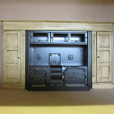 1/12 Dolls House  Metal Range Stove including Surround.   DHD455