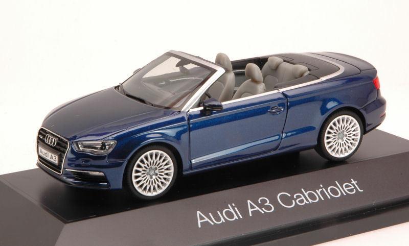 Audi A3 Cabrio 2013 Blau 1 43 Model HERPA