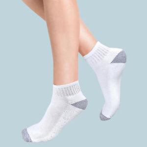 Women Men Sports TRAINER SOCKS White Black Ankle Liner Cotton Sports Socks