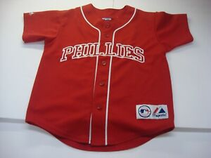 brand new 78f26 c2f1f Details about Majestic Philadelphia Phillies Jim Thome Jersey Size M MLB Red