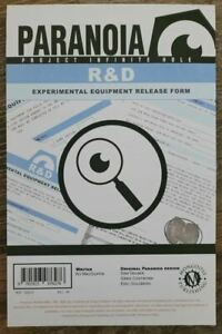 Paranoia RPG The R & D Experimental Equipment form pad Add'l items ship free!!!