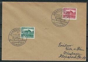Deutsches reich mi. Nº 673 - 674 saarpfalz sur FDC avec mangez me 100-afficher le titre d`origine TIBuwWiL-07165126-318364531
