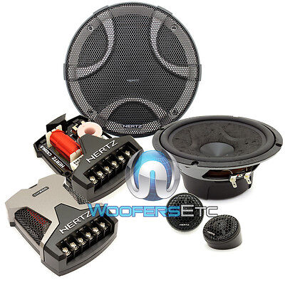 "HERTZ DSK 165.3 CAR AUDIO 6.5/"" COMPONENT SPEAKERS MIDS TWEETERS CROSSOVERS NEW"