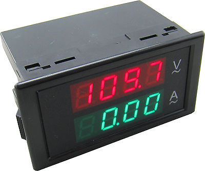 AC Meter True RMS Precision 100A 80-300V Current Voltage Meter Current Sensor MZ
