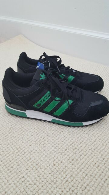 ADIDAS ORIGINALS MEN'S ZX 700 BLACK GREY S80527 UNISEX TRAINERS SNEAKERS