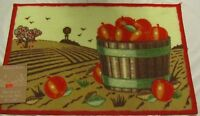 Rare Printed Kitchen Rug / Mat (18x 28) Basket Of Tomatoes