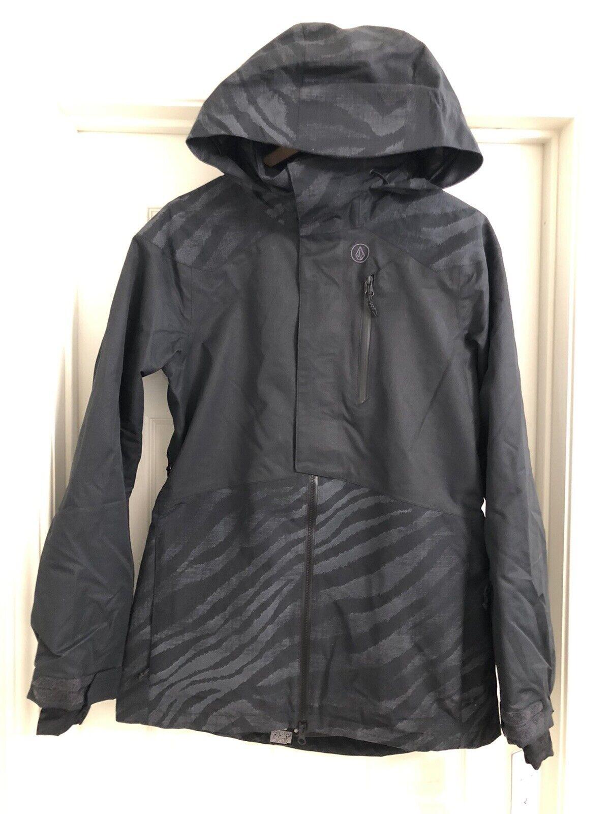damen VOLCOM PINE 2L TDS SNOWBOARD JACKET schwarz ON schwarz SMALL S BRAND NEW  250
