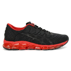 ASICS Men's Gel-Quantum 360 5 Black/Speed Red Sportstyle Shoes 1021A113.001 NEW