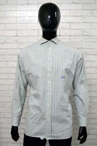 Camicia-CASTELBAJAC-Uomo-Taglia-Size-XL-Chamise-Shirt-Man-Cotone-Casual-a-Righe