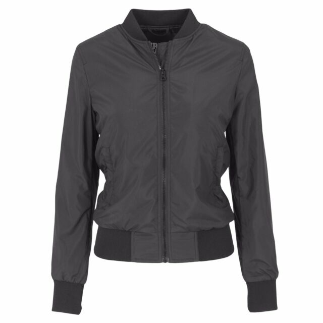 Urban Classics Ladies  Light Bomber Jacket Tb1217 Black S for sale ... aaeec4e653