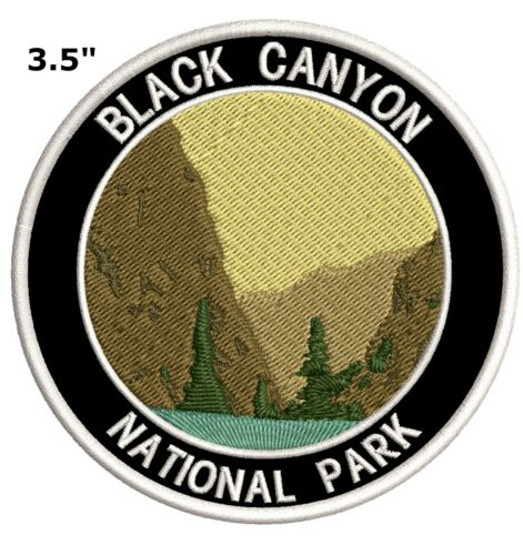 Black Canyon of the Gunnison National Park Embroidered Patch Iron-On Souvenir
