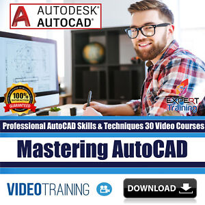 Professional Autocad Skills Techniques 30 Video Training Courses Download Ebay