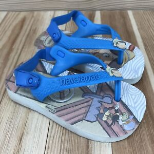 classic style hot sales 2018 sneakers Details about Havaianas Baby Shoes Size 5 Flip Flops Pinocchio Elastic Back  Strap Sandals Blue