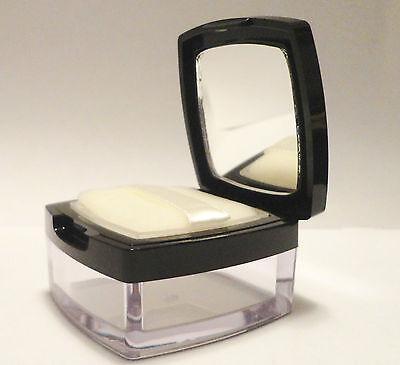 15 gram clear mirrored Jars wth black cap, sifter,sponge,cosmetic jar-M60
