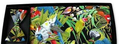 Paradise Birds Cummerbund & Bow Tie Sets