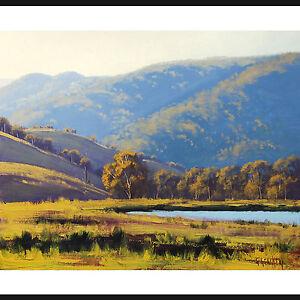 LARGE-LANDSCAPE-PAINTING-AFTERNOON-SUNLIGHT-LITHGOW-AUSTRALIAN-ART