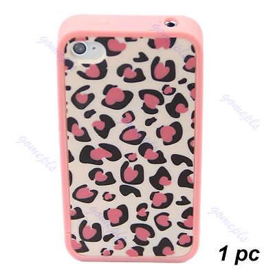 Camellia Dots Deer Grain Leopard Hard Cover Case Skin For Apple iPhone 4 4S Leop
