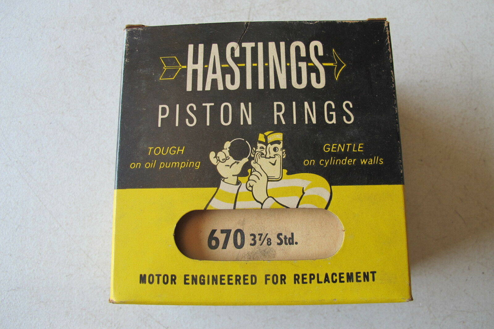 5712 Hastings Cast Piston Rings Ring Set Chevy Mercruiser Marine GMC 4.3L 262