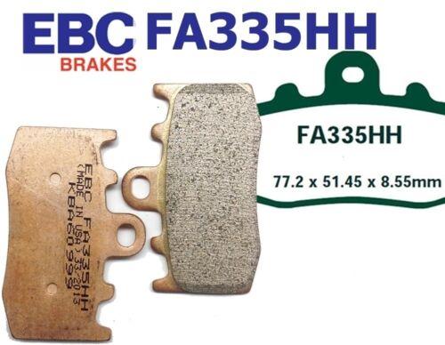 10 Disc has fixed bobbins EBC Bremsbeläge FA335HH Vorderachse BMW R 1200 RT-SE