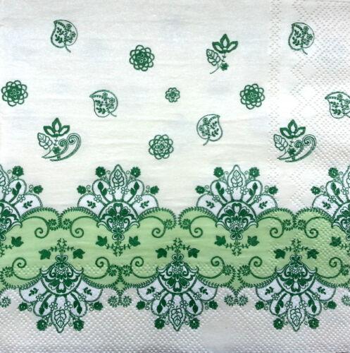 4 X Vintage sola tabla las servilletas de papel patrón artesanía Para Decoupage fiesta