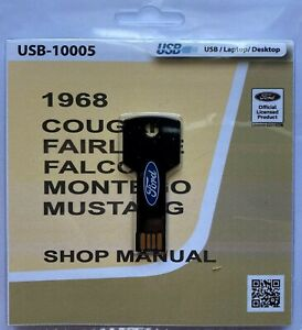 1968-Ford-Mustang-Cougar-Fairlane-Falcon-Shop-Service-Manual-USB
