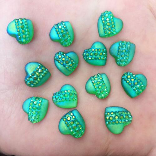 tarjeta de decisiones /& Decoración Varios Brillante Decoraciones de Forma de Corazón para Artesanía