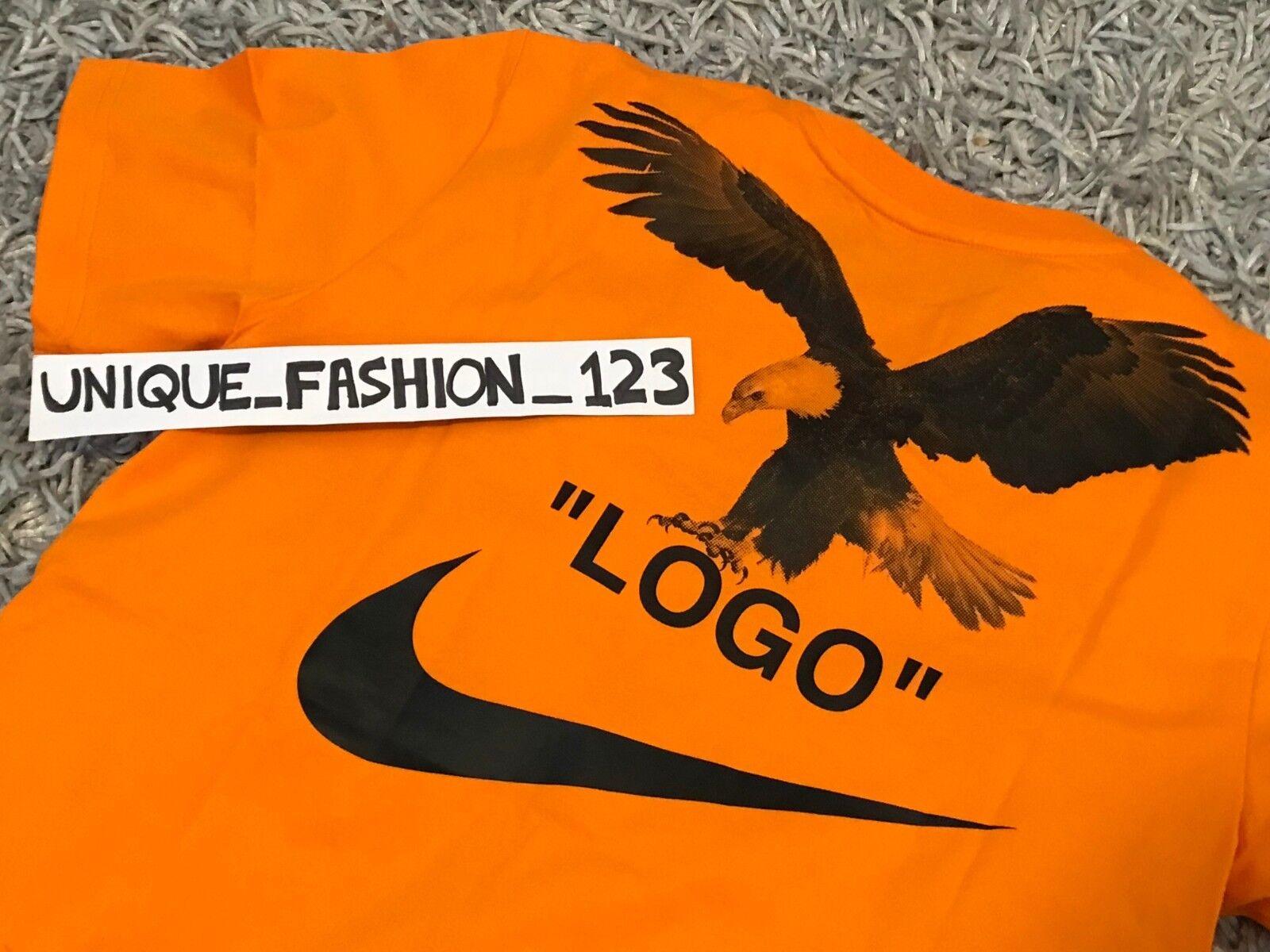 NIKE LAB X OFF WHITE NRG A6 TEE L T-SHIRT LARGE orange EAGLE BQ0827-852