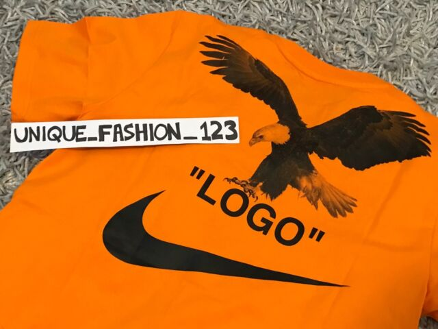 various styles official new appearance Nike Lab X off White NRG A6 Tee L T-shirt Large Orange Eagle Bq0827-852