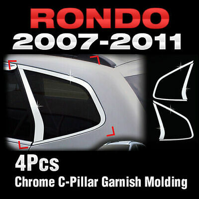 Door Checker Cover Hook Garnish Chrome Molding for KIA 2007-2012 Rondo Carens