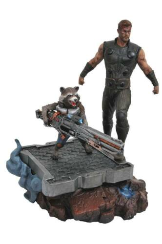 Avengers Infinity War Marvel Premier Collection Statue Thor & Rocket Raccoon 30