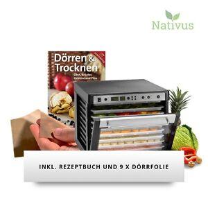 Sedona COMBO Trockner Rohkost Dörrgerät SD-P9150 inkl. 9x Dörrfolie + Buch