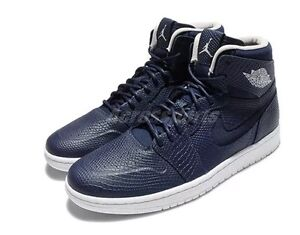 the latest 9f491 73ae7 Image is loading AIR-JORDAN-1-Retro-HIGH-NOUVEAU-Midnight-Navy-