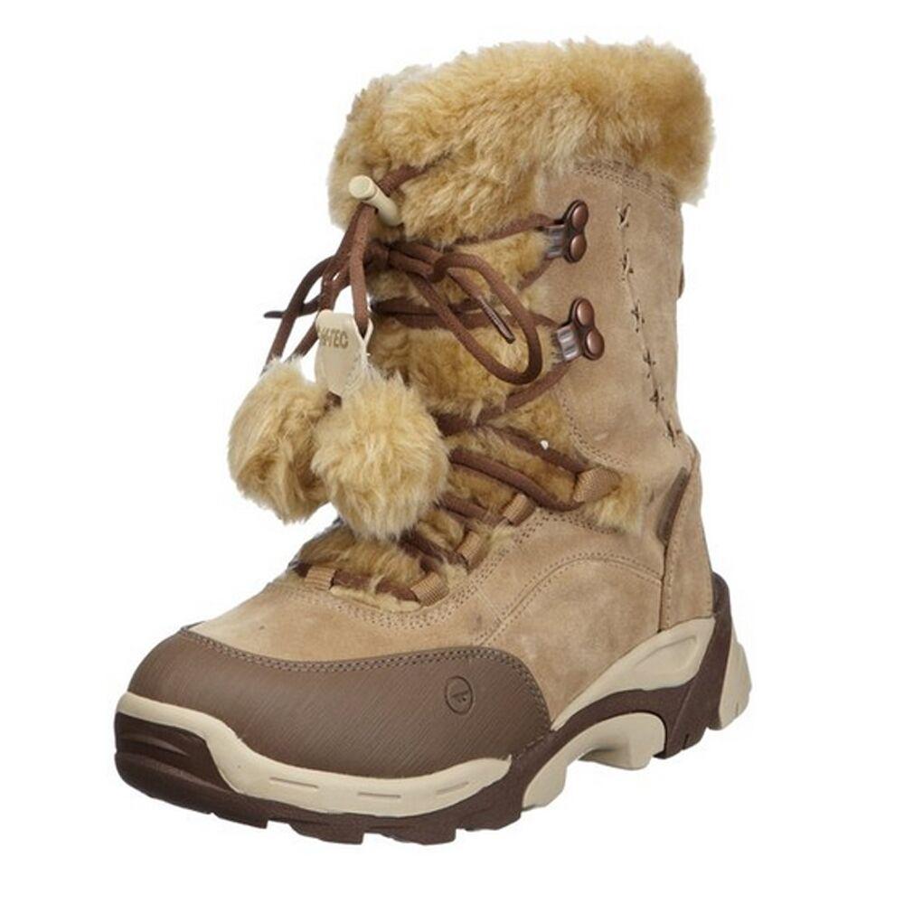 Hi-tec - St. Moritz 200 Wp II W Marrón   crema botas de invierno mujer