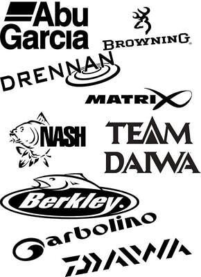 Abu Garcia fishing logo sticker decal angling fly fish tackle box vinyl sticker