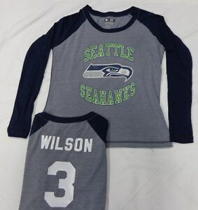 Seattle seahawks football russell wilson ladies long for Russell wilson womens t shirt