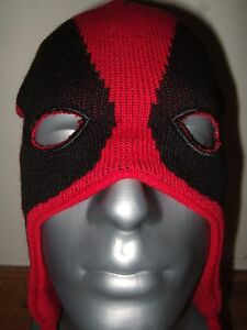 Adult Black Red Marvel Comics Deadpool Merc Face Mask Laplander ... 23557eda6c8