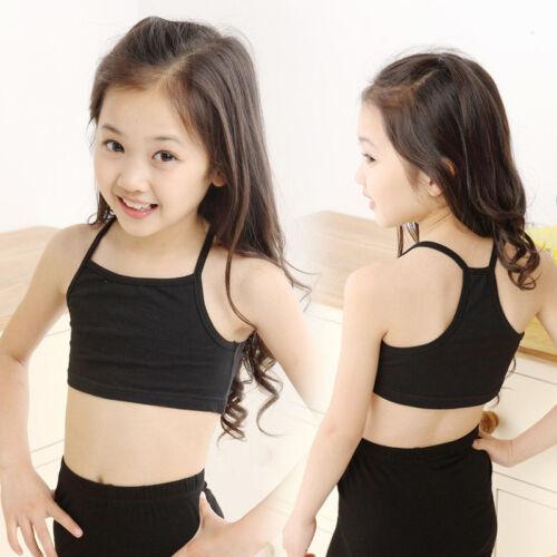 Kids Girls Camisole Baby Child Sports Dance Tube Crop Tank Tops Vest T-shirt