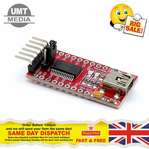 FT232RL 3.3V 5.5V MiniUSB Port FTDI USB to TTL Serial Adapter Module for Arduino