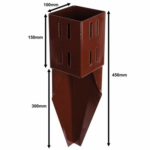 """STEEL FENCE POST SUPPORT SPIKES 3/""""//4/"""" Garden Drive Down Holder//Stake RUST RESIST"""