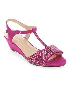 LADIES-EXTRA-WIDE-FIT-EEE-MAGENTA-PEEP-TOE-SANDALS-WEDDING-PARTY-SHOES-SIZES-4-9