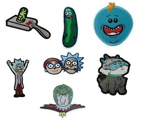 Rick-and-Morty-TV-Show-Iron-On-Sew-On-Patches-Badges-Transfers-Fancy-Dress